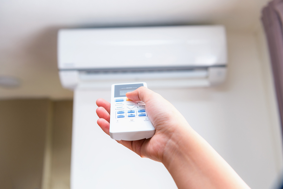 Controlling split-ductless air conditioner with remote